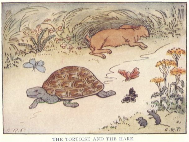 Illustration from the book The Tortoise and the Hare