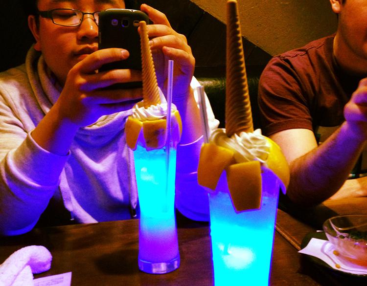 The Tofugu team having some drinks