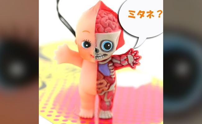 A disturbing half-baby half-cutaway doll
