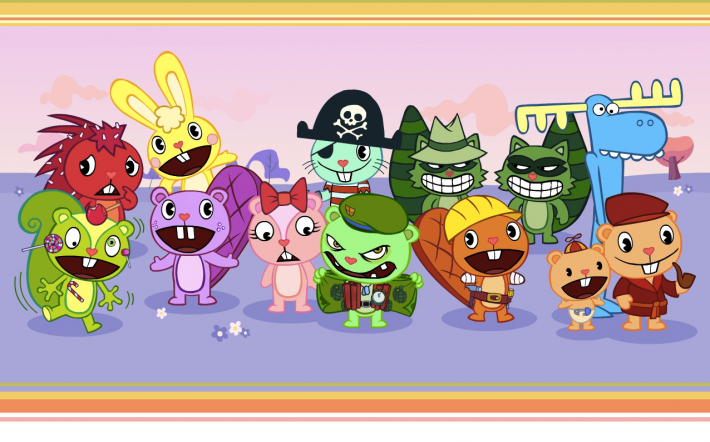 The cast of the American animated series Happy Tree Friends