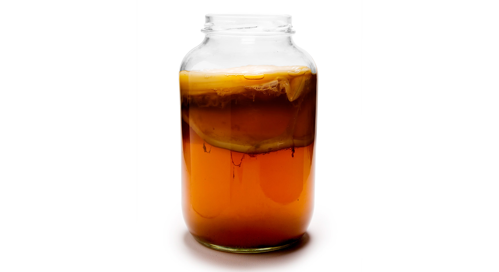 fermented kombucha in a jar