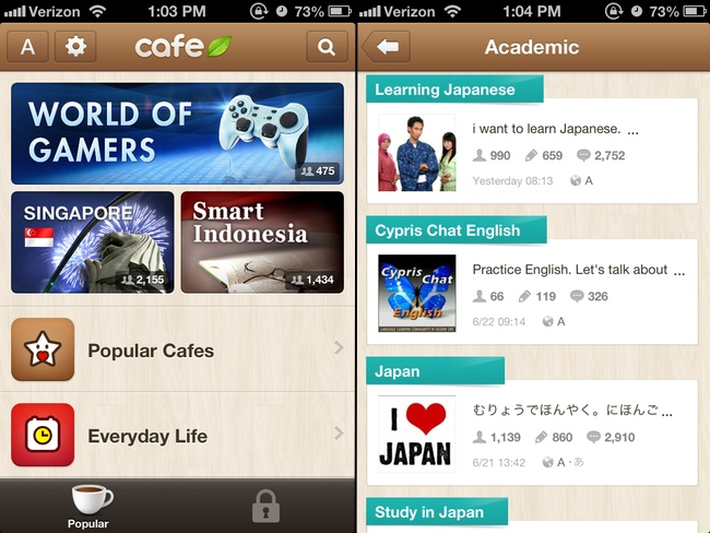 Some Japanese language learning apps available on LINE cafe