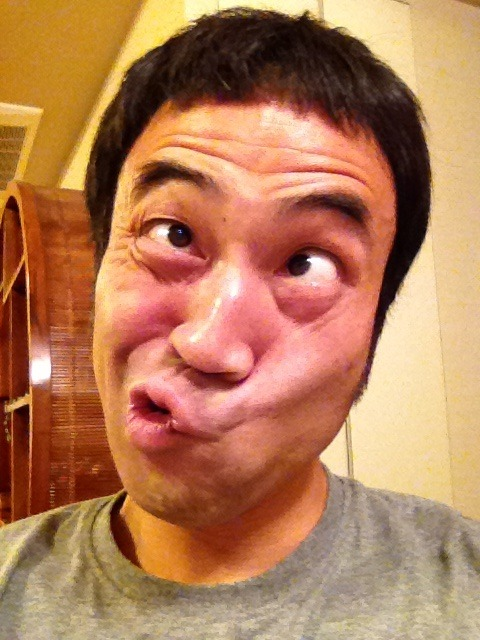 Japanese man makes a weird face