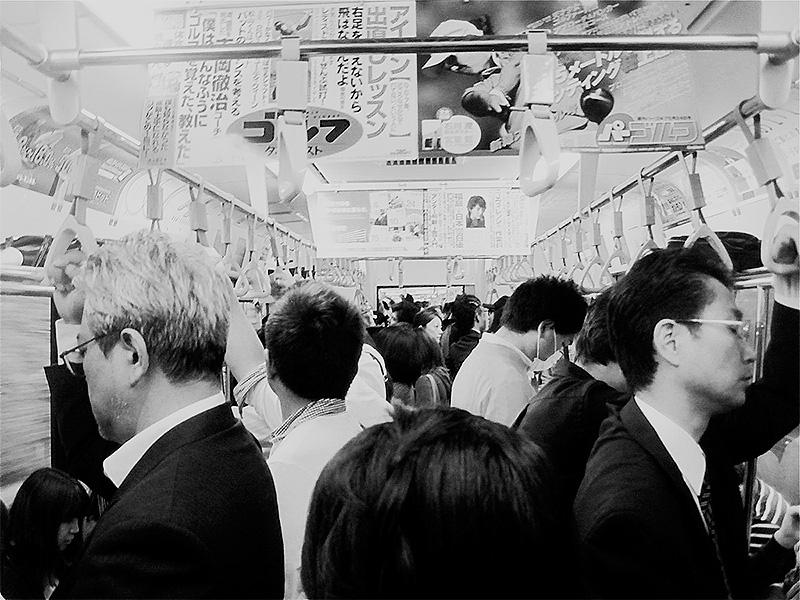 rush hour subway tokyo