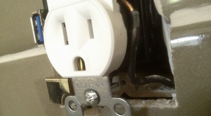 Socket of a Japanese toilet