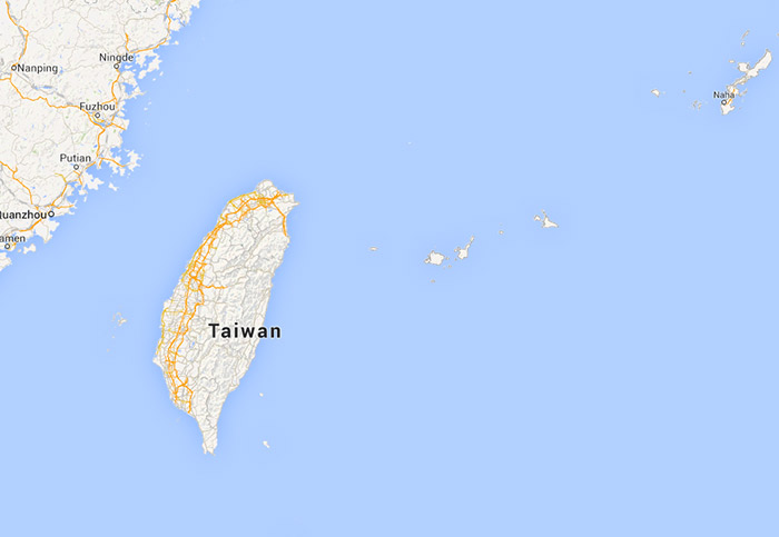 A map of Taiwan's relation to the Senkaku Islands