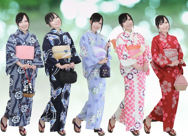 5 different yukata