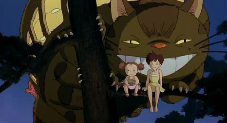 still from totoro girls in tree