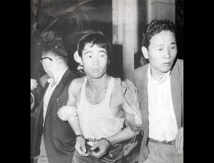 black and white man in japan arrested fifties