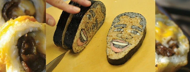 sushi shaped like barack obama best sushi ever