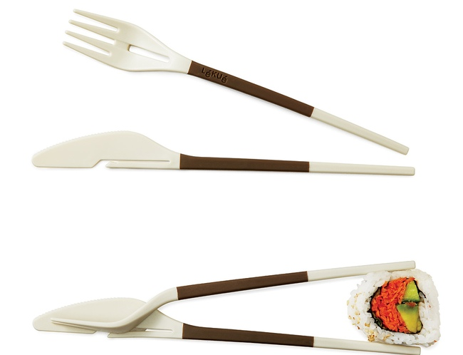 knife and fork are also chopsticks