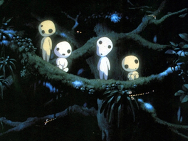 The white kodama spirits from Spirited Away