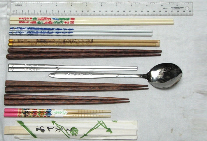 The different chopstick designs from around the world