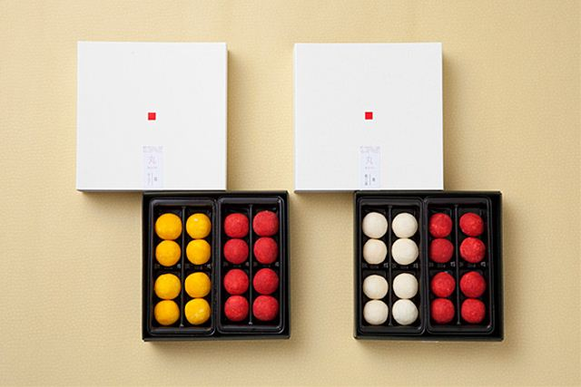 fancy japanese sweets in boxes