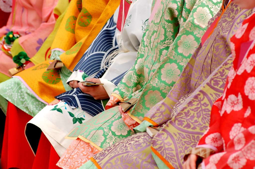 color in japan kimono fabric