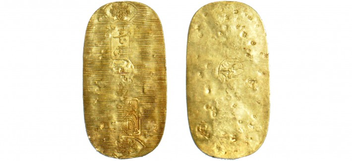 gold koban coin