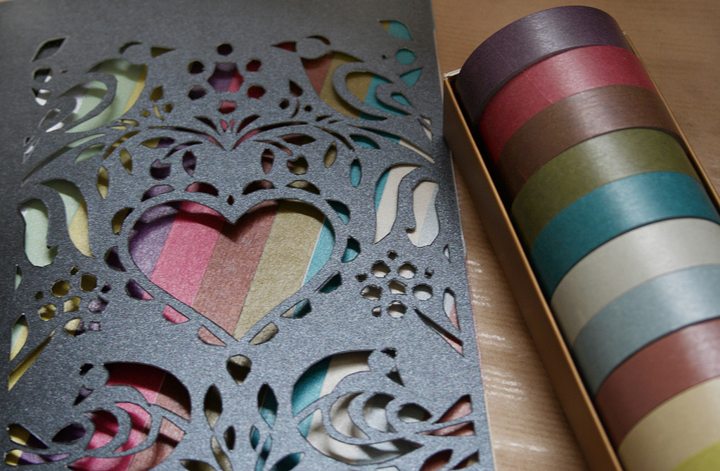washi tape diy heart