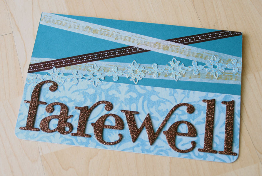 washi tape farewell card