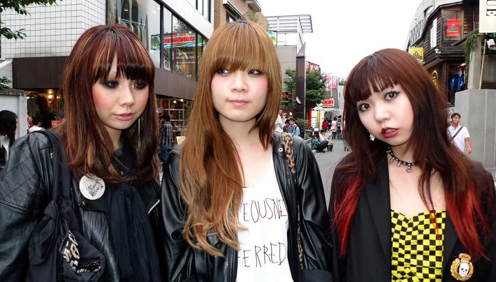 Japanese Girls Hair Color