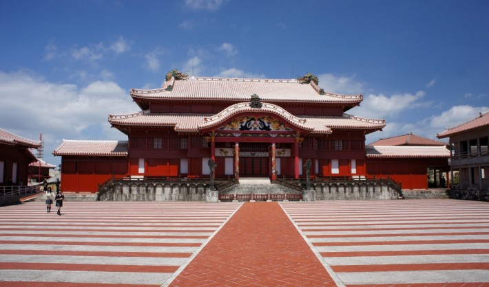 Shuri Castle in the Ryukyu Islands, now Okinawa