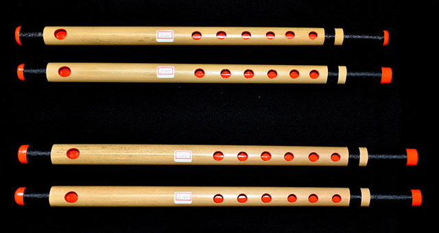 fue traditional japanese wooden bamboo flute