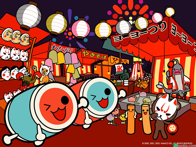 japanese cartoon taiko drum characters