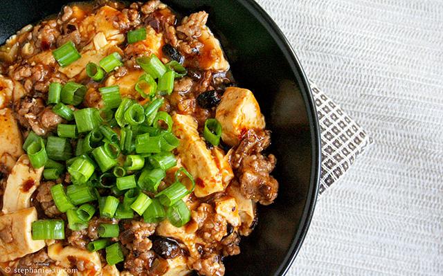 mapo tofu mapodoufu black bowl