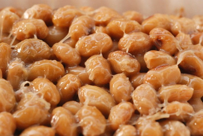 sticky fermented soy beans natto