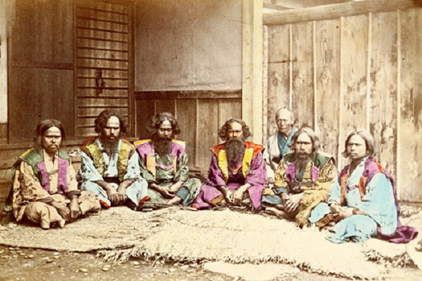 ainu men with beards japan