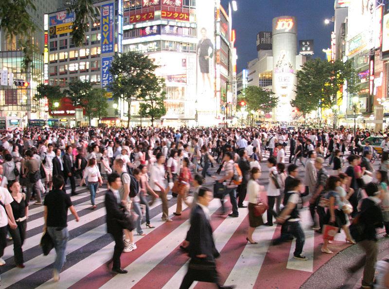 ainu japan crowded streets