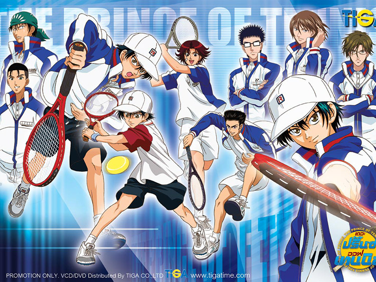 Promotional image for the Prince of Tennis anime