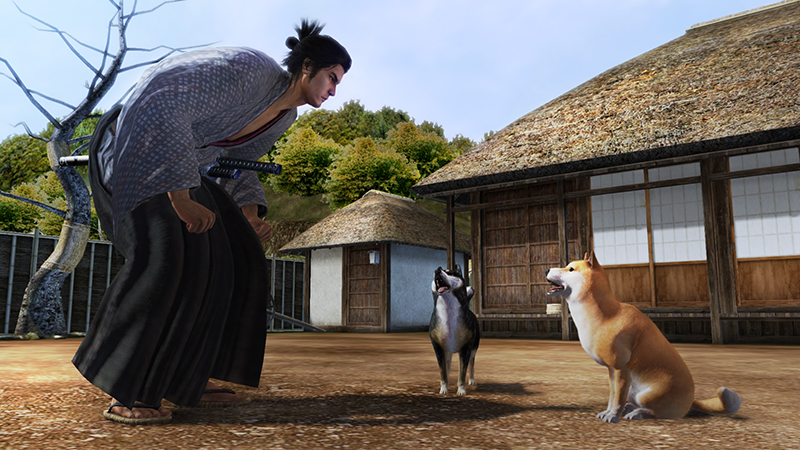 Screenshot from the game Yakuza Ishin