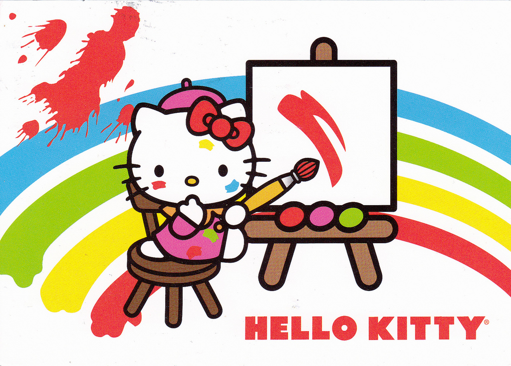 Hello Kitty painting easel
