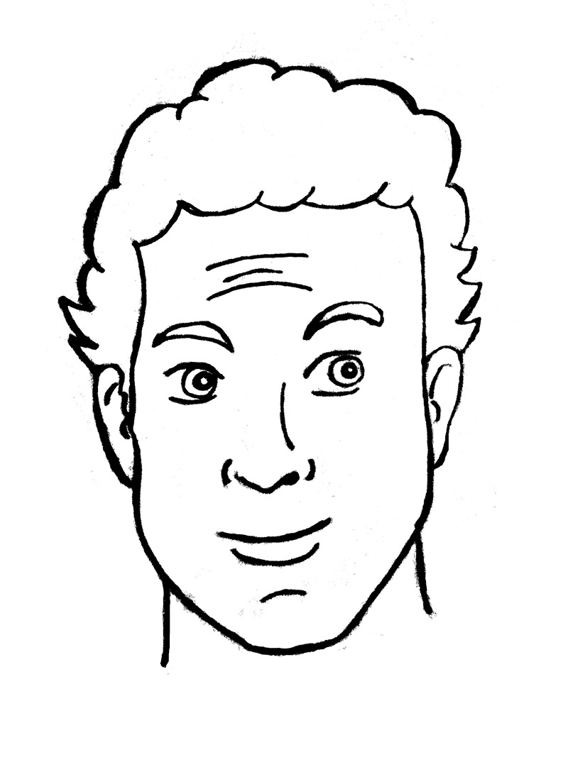 tom hanks line drawing