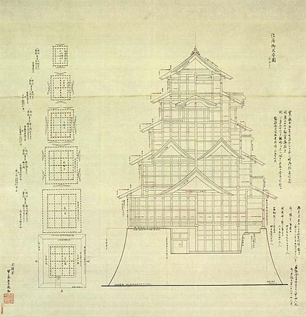 edo castle schematic