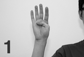 japanese counting gesture one