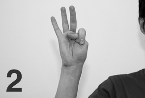 japanese counting gesture two
