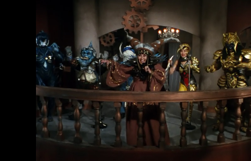 power rangers villains on a balcony