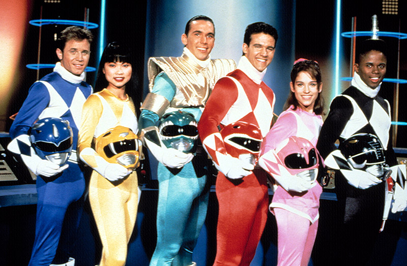 group shot of American power rangers