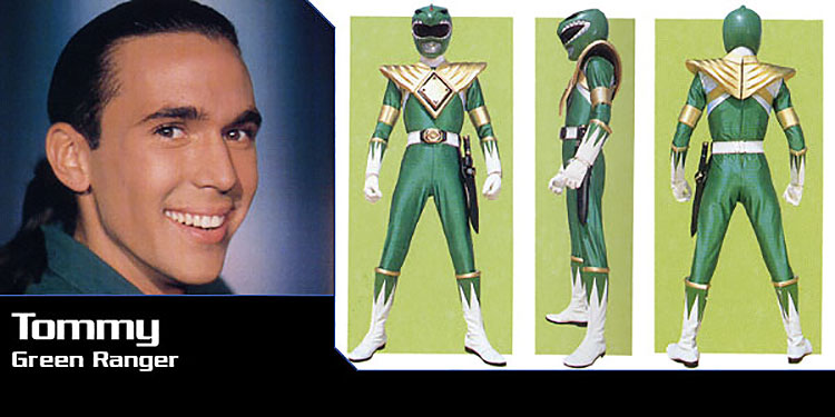 Tommy the green power ranger