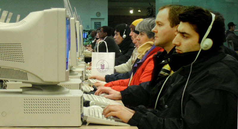 people using public computers