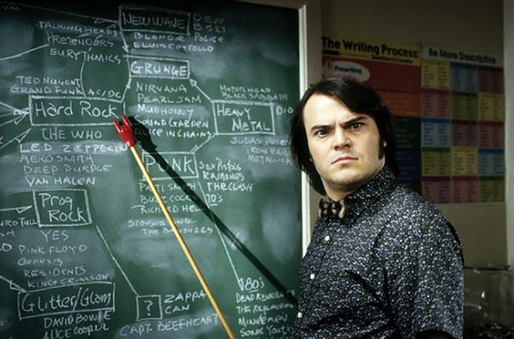 actor Jack Black in School of Rock