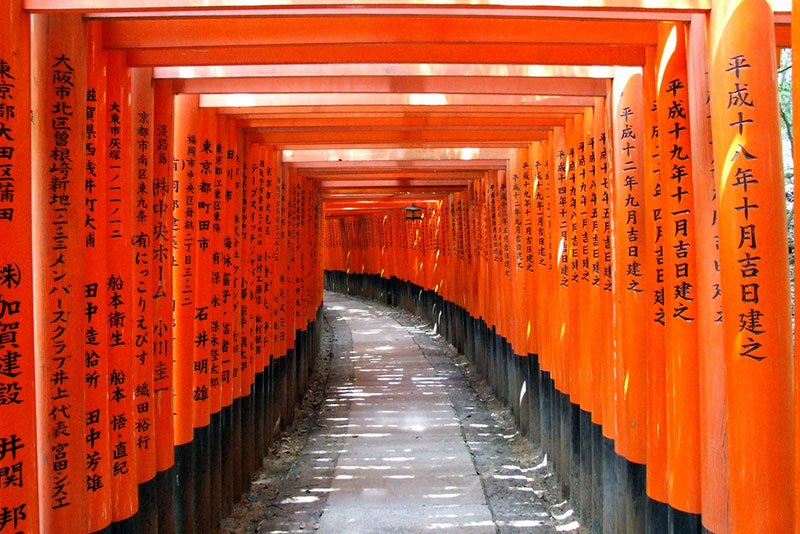 fushimi kyoto torii tunnel