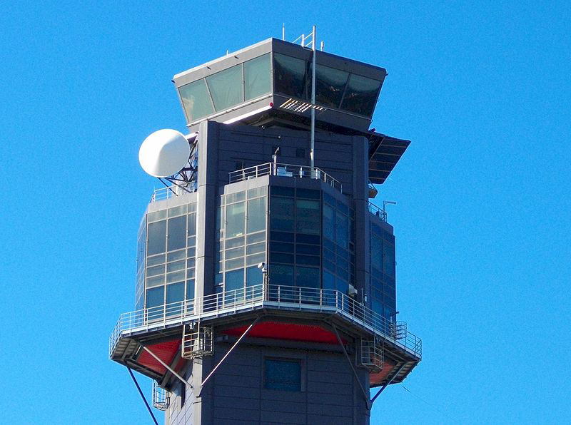 Control tower seen from below