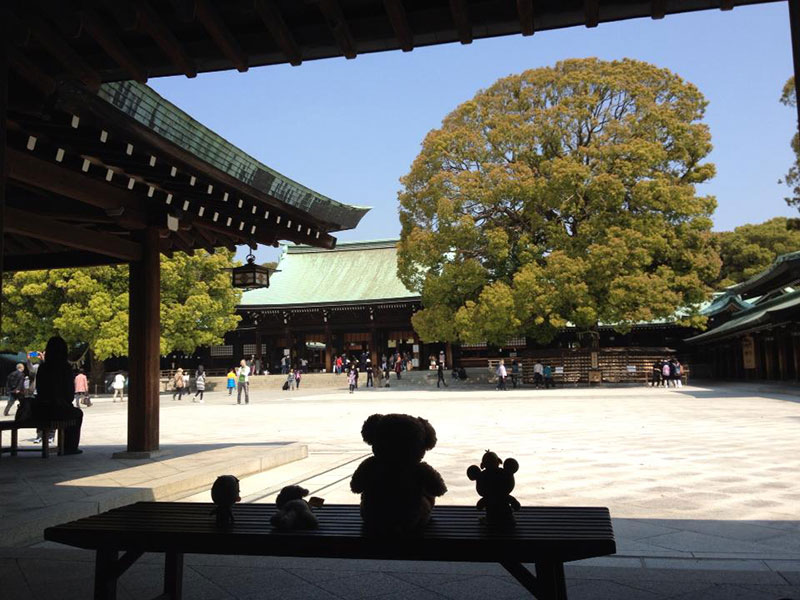 stuffed animals at meiji shrine