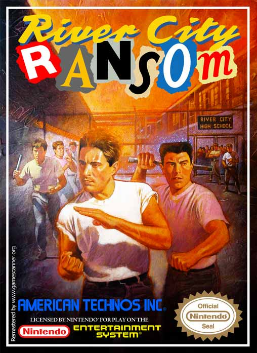 Downtown Nekketsu Monogatari's US Boxart titled River City Ransom