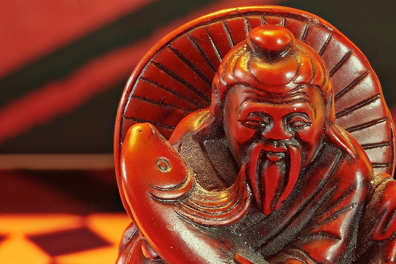 Carved statue of Confucious