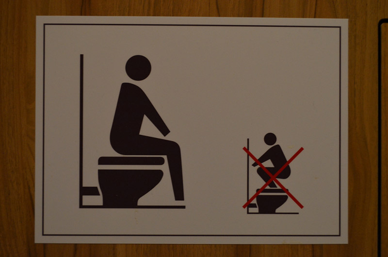do and dont toilet sign
