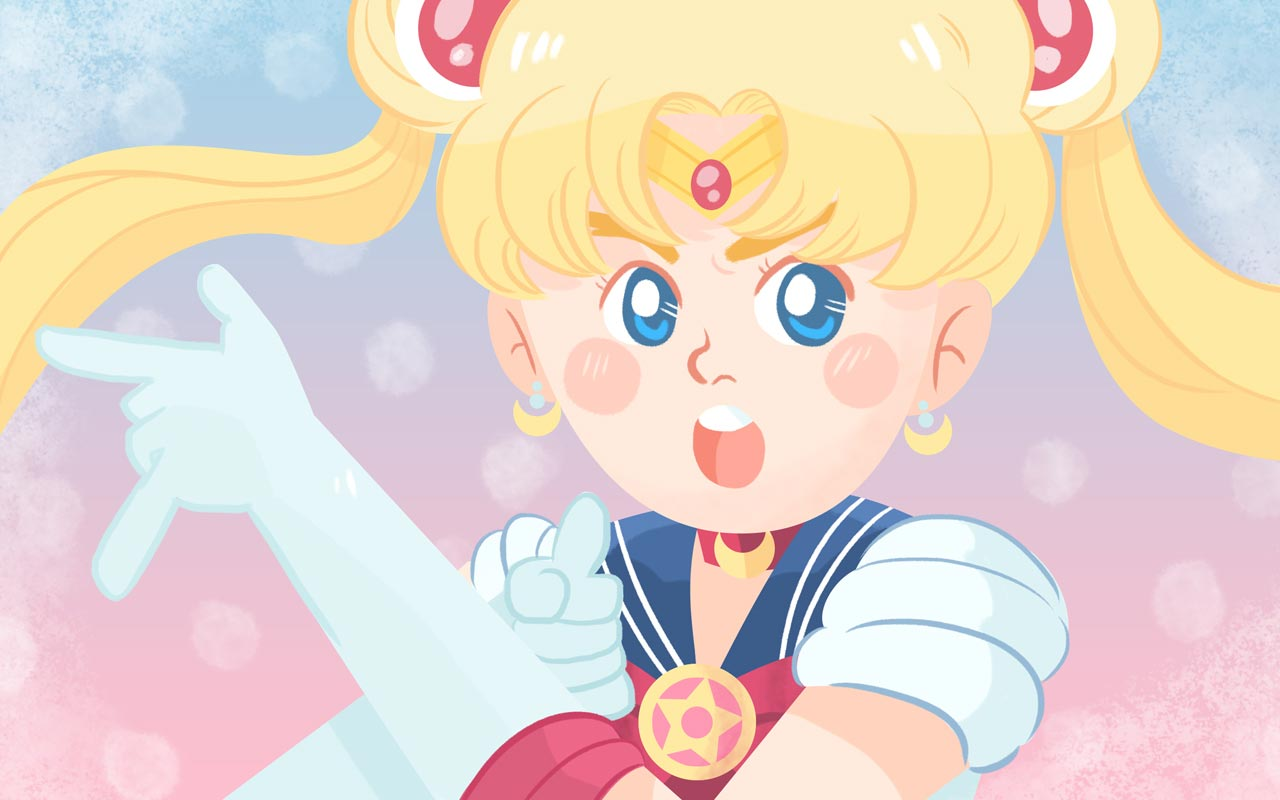 Sailor Moon illustration by Aya Francisco