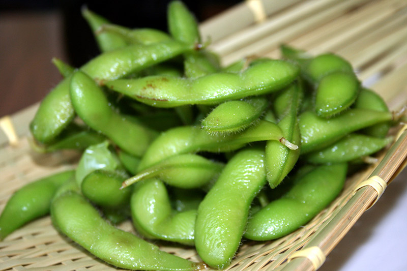 green beans soybeans edamame on a plate